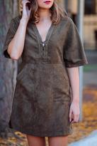 Lush Faux Suede Dress