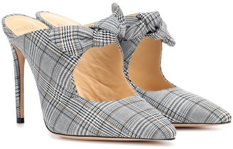 Alexandre Birman Evelyn checked mules