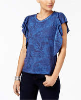 Style&Co. Style & Co Butterfly-Sleeve T-Shirt, Created for Macy's