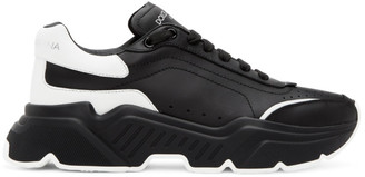 Dolce & Gabbana Black and White Daymaster Sneakers