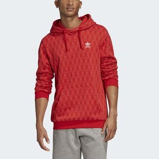 adidas Men's Mono All Over Print Hoodie Sweatshirt