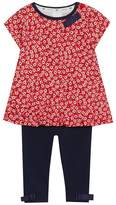 J by Jasper Conran Baby Girls' Red Floral Print Tunic And Leggings Set