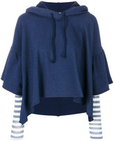 Semi-Couture Semicouture cropped hooded sweatshirt
