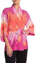 Natori Kimono Sleeve Print Robe