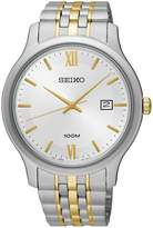 Seiko Men's 41mm Two Tone Steel Bracelet Steel Case Quartz Analog Watch Sur223