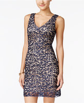 B. Darlin Juniors' Embellished Lace Bodycon Dress