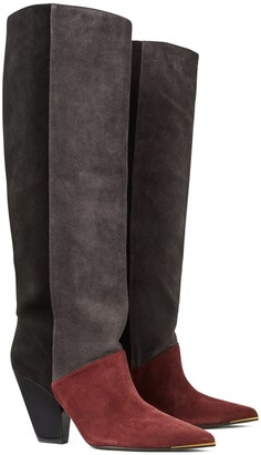 Tory Burch Lila Suede Knee Boot