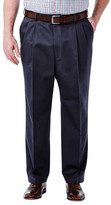 Haggar Big & Tall Work To Weekend Khakis - Classic Fit, Pleated Front, Hidden Expandable Waistband