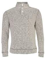 Ocean Pacific Mens 3 Button Neck Waffle Sweat Pullover Long Sleeve High Top
