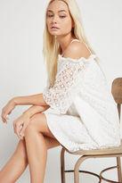 BCBGeneration Floral Lace Off-Shoulder Dress