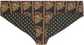 Etoile Isabel Marant Low-rise reversible printed bikini briefs