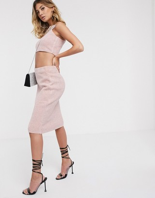 Asos DESIGN co-ord knitted pencil skirt