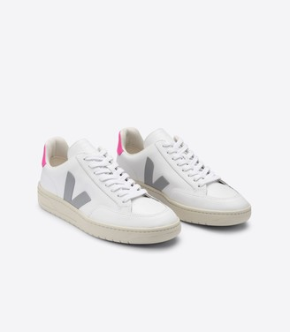 Veja V 12 White Oxford Grey Sari Sneakers - 37