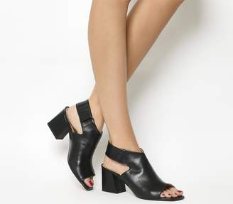 Office Myth Cut Out Shoe Boots Black Leather