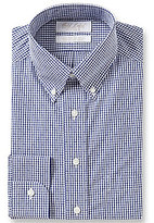 Roundtree & Yorke Gold Label Non-Iron Dotted Gingham Dress Shirt