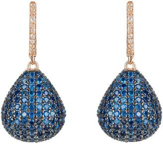 Latelita Valerie Pear Drop Gemstone Earring Rosegold Sapphire