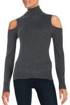 T Tahari Flynn Turtleneck Cold Shoulder Sweater