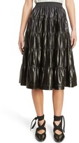J.W.Anderson Women's Tiered Leather Skirt
