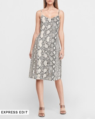 Express Snakeskin Midi Slip Dress