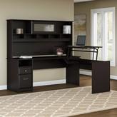 Hillsdale Height Adjustable L-Shape Standing Desk Converter Red Barrel Studio Color: Espresso Oak