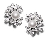 Tory Burch Kenneth Jay Lane For Crystal Pearl Earring