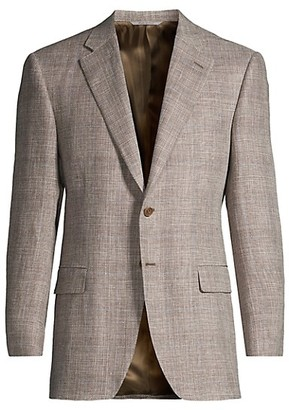 Canali Windowpane Wool Sportcoat