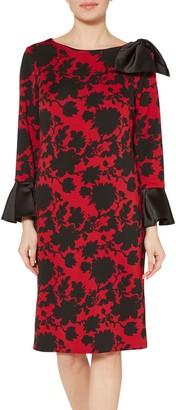 Gina Bacconi Theresa Scuba Dress, Red