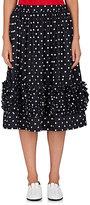 Comme des Garcons Women's Ruffled Polka Dot Knee Skirt