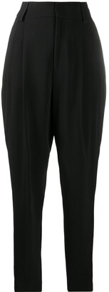 RED Valentino High-Waist Pleated Trousers