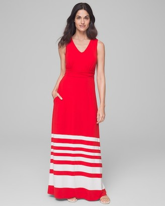 Invisible Support Soft Jersey V-Neck Maxi Dress