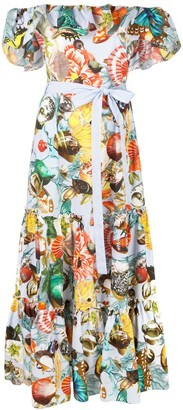 Mary Katrantzou Shell Print Maxi Dress
