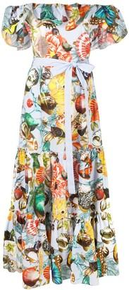 Mary Katrantzou Shell Print Maxi Dress