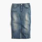 J.Crew McGuireTM Marino denim skirt in royalist wash