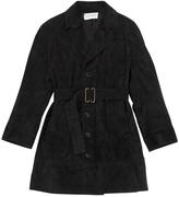 Saint Laurent Black Suede Coat