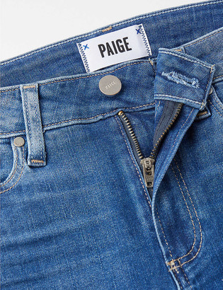 Paige Hoxton high-rise straight stretch-denim jeans