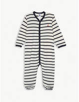 Petit Bateau Striped cotton sleepsuit newborn-24 months