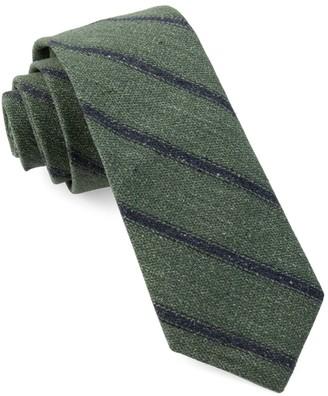 Hunter North Border Stripe Green Tie