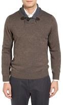 Toscano Men's Shawl Collar Pullover Sweater