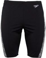 Speedo Mens Monogram Jammer Shorts Black/White