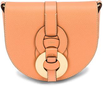 Chloé Darryl Saddle Bag in Peach Bloom | FWRD
