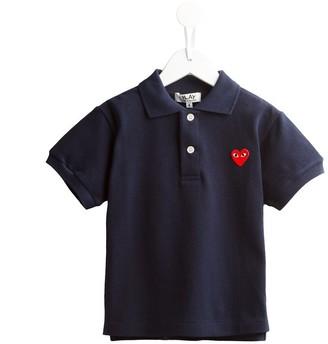 Comme Des Garçons Play Kids Embroidered Heart Polo Shirt