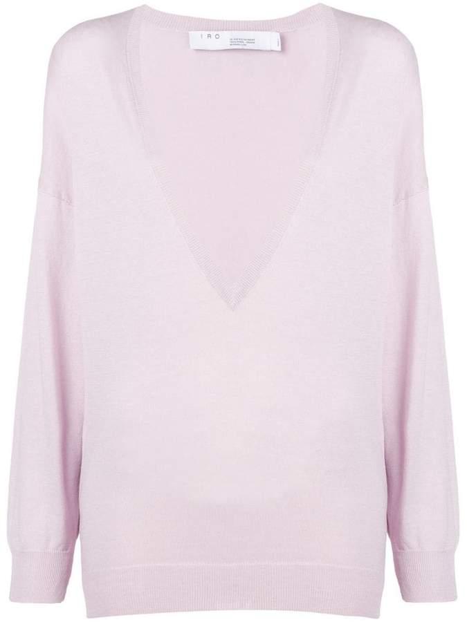 Remote V-neck sweater