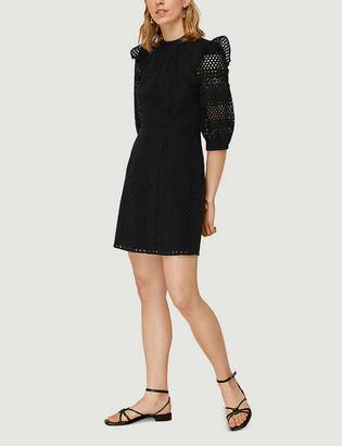 Whistles Broderie cotton mini dress