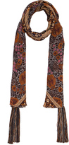 Chloé Foulard Scarf in Orange & Multi