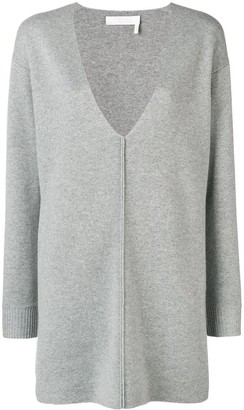 Chloé V-neck sweater dress