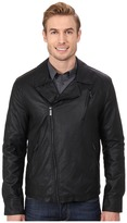 Kenneth Cole Reaction Asymmetrical Zip Front Faux Leather Hipster