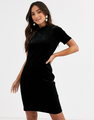Pieces short sleeve bodycon mini dress