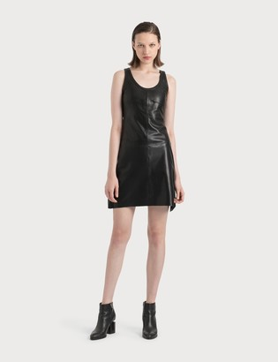 Helmut Lang Stain-proof Leather Tank Dress