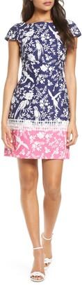 Brinker & Eliza Border Print Short Sleeve Dress