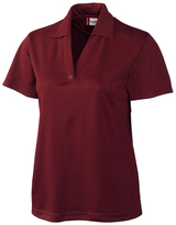 Clique Burgundy Sonoma Textured Performance Polo - Plus